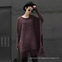 Nuevo suéter de poncho de punto de moda para las mujeres Pullover Coat Invierno