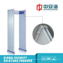 24 zones de détection 100 niveau de sécurité Oudoor détecteur de métaux de porte