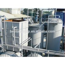 L'usine principale de traitement profond d'huile de pyrolyse de pneu de déchets de fabrication avec l'OIN de la CE.