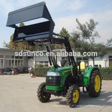 Traktor Loader und Löffelbagger mit Mäher