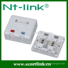 2 port cat5e cat6 rj45 modular surface box