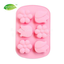 6 Flowers Silicone Bakeware Muffin Pan