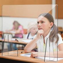 Cutout Plexiglass Transparent Acrylic Clear Sneeze Guard for Desk Counter Reception School Office Store