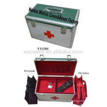 Neuer Stil der Aluminium-erste-Hilfe-Kasten fasst 2 medizinische Taschen innen (außer Fracht)