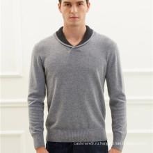 мужская лацкане шеи кашемировый вязаный пуловер свитер