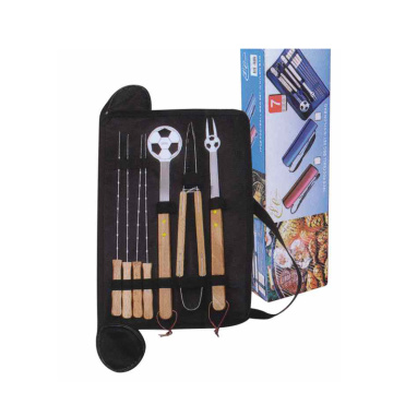 Ensemble de 7 outils de barbecue en forme de football