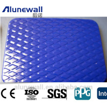 Alunewall 4mm EMBOSSED A2/B1 fireproof Corrugated Aluminum composite panel