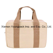 Promotional Custom Natural Cotton Canvas Insulated Lunch Tote Bag