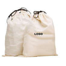 Most popular printed logo eco-friendly recycle Cotton Laundry Bag Drawstring Canvas home Storage Laundry Bags