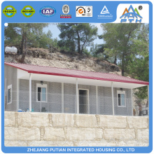 Low cost high quality prefab steel frame container house