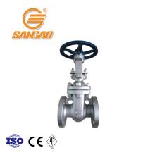 Válvula de compuerta de acero fundido al por mayor aceite gas dn150 brida válvula de compuerta api600