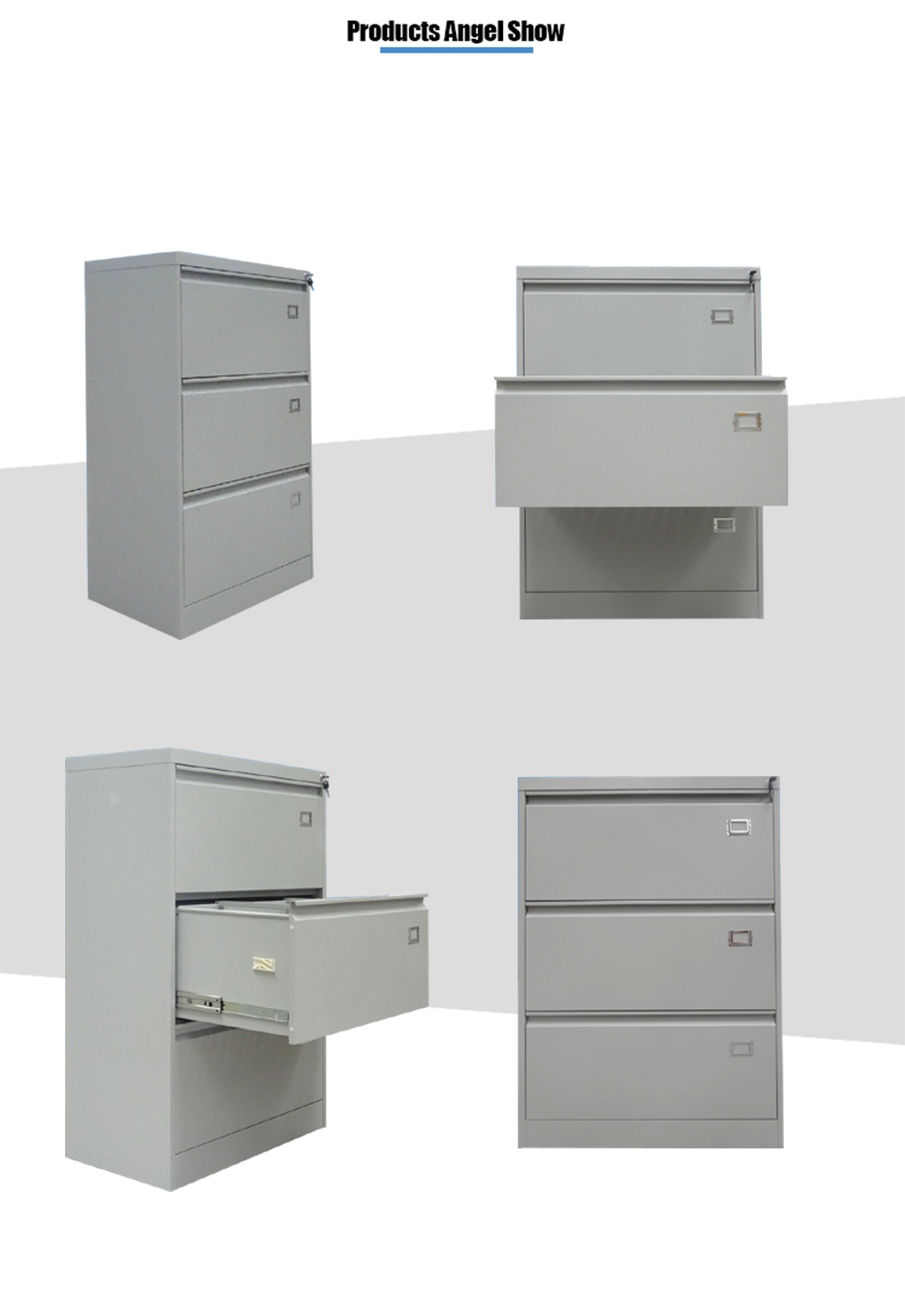 steel 3 drawer lateral cabinet