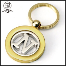 Double Zone color design your own metal keychain