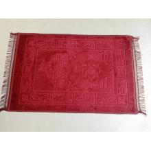 Custom Design Soft Muslim Raschel Foam Adult Islamic Prayer Mat Travel, Prayer Rugs Carpet Muslim Prayer Mat