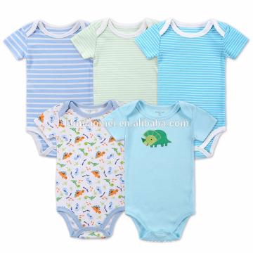 Großhandel Bio-Baumwolle Streifen Blau Grün Farbe Baby Pailletten Strampler Baby Kleidung Weihnachten Strampler