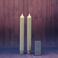 set of 2 12 inch moving wick led taper candle for wedding