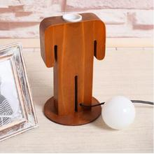 Human Shape LED Wooden Desk Light
