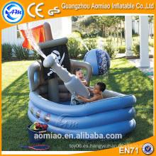 Piscina en forma de barco en forma de piscina inflable piscina de baño de spa profunda para niños