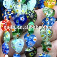 Perles de verre au chalumeau de diverses formes de haute qualité pour la fabrication de bijoux