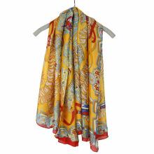Fashion Printing chiffon évasement écharpe foulard carré