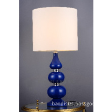 Metal Modern table pendant lamp in chrome and blue finish