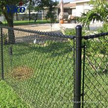 Type de cadre métallique PVC enduit galvanisé chaîne lien clôture pour la protection