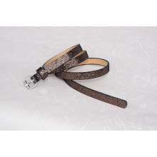 Fashion Lady glitter pu leather belt