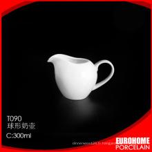 magasinage en ligne ensemble crémier et sucrier porcelaine de porcelaine vente chaude