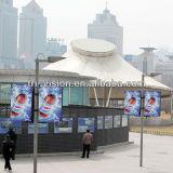 Double side Lamp Pole Banner Lightbox Advertising Billboard