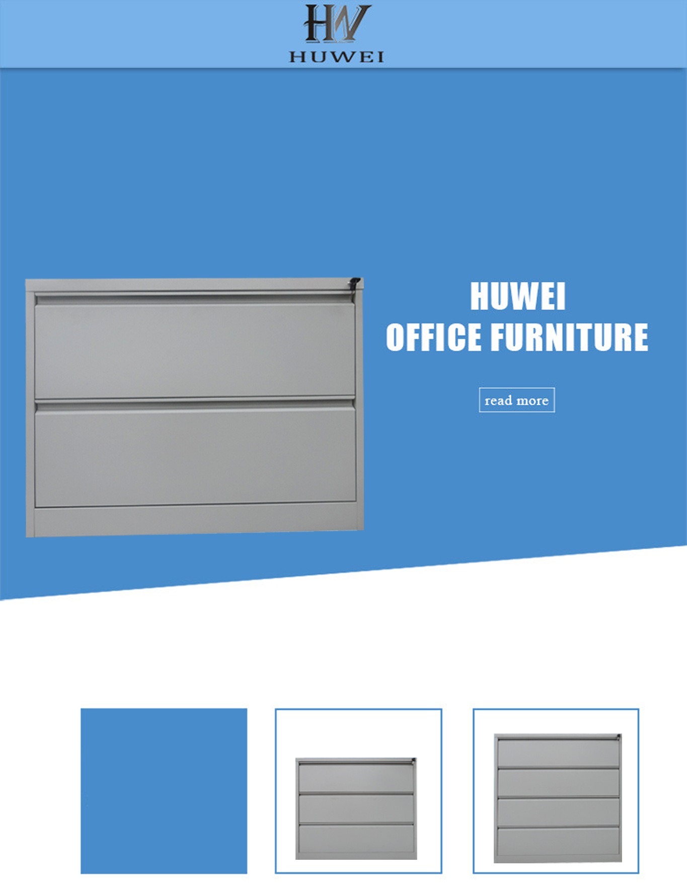 steel double drawer lateral cabinet