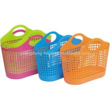 SGS одобрил настроить цвет пластиковые корзины /plastic корзина с ручкой