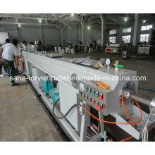 Linha de produção plástica fácil da tubulação do HDPE da máquina