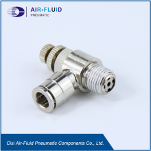Air-Fluid Electroless  Brass Elbow Speed Control Valve