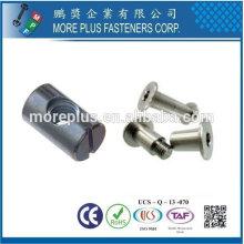 Taiwan Edelstahl 18-8 verchromt Stahl vernickelt Stahl Kupfer Messing Fass Mutter und Schraube Sets