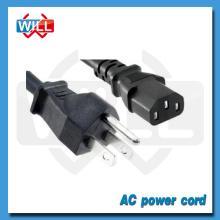 Certificado UL CUL EE.UU. Canadá Conector de cable de alimentación de CA de 3 pines