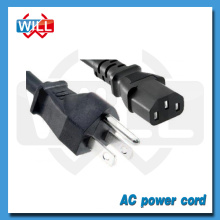 UL CUL certified USA Canada 3pin ac power cord connector