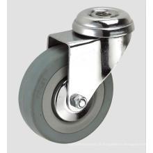 Roulette d'industrie en caoutchouc grise de 3 pouces sans frein