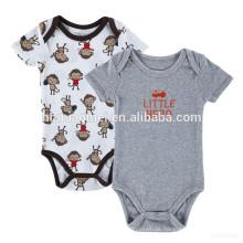 2017 neueste design grau farbe sommer kinder onesie strampler säugling und kleinkind schlichten bodysuit baumwolle bio baby strampler