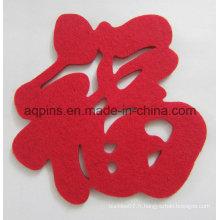 Coaster promotionnel fait sur commande de polyester de feutre bas prix (Coaster-31)