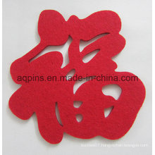 Custom Made Promotional Polyester Felt Coaster Low Price (Coaster-31)