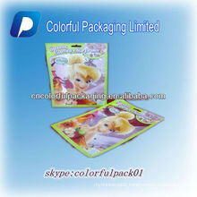 3 side seal inflatable plastic packaging bags for toys