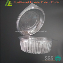 Caja de ensalada transparente de plástico transparente transparente