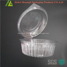 Clear transparent clamshell plastic big salad box