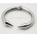 Punk Open âncora bracelete pulseira em aço inoxidável jóias