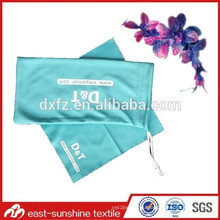 screen printed wholesale drawstring glasses pouch,logo wholesale drawstring glasses pouch