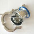 """Tri-Clamp&Reg Ends """"a"""" Type (air coupler) EPDM Ball Air Blow - Check Valves"""