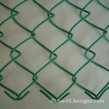 PVC Coated Chain Link Fence with 1/2 to 4 Inches Mesh Hole and BWG18 - BWG8 Wire Gauge