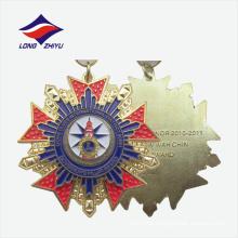 Pulido tamaño personalizado diseño único oro decorativo premio medallas
