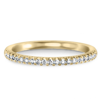 Gold Over 925 Sterling Silver Jewelry Ring Band with CZ