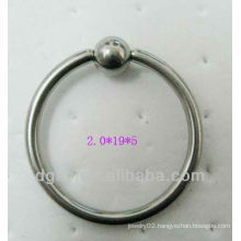 stainless steel nose ring bead captived ring